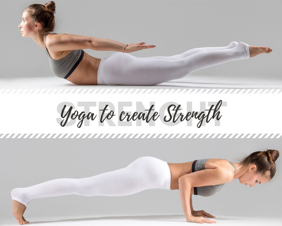 Check out our yoga poses that help you to create strength and power