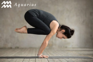 Crow Pose for Aquarius - check out more yoga poses for the zodiac signs