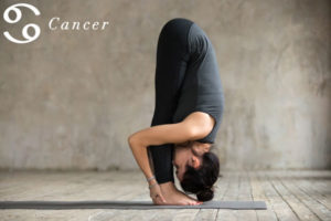 Forward Bends for Cancer - check out more yoga poses for the zodiac signs