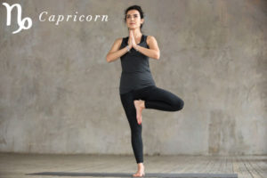 Tree Pose for Capricorn - check out more yoga poses for the zodiac signs