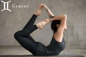 Bow Pose for Gemini - check out more yoga poses for the zodiac signs