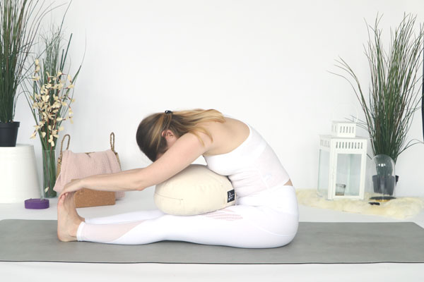 Seated Forward bend is a great yin yoga pose