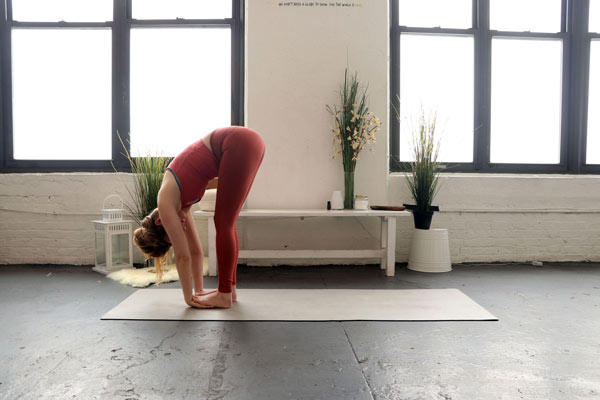 Forward Bend - self-love yoga