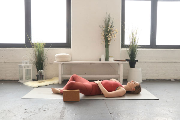 Reclined Bound angle - self-love yoga