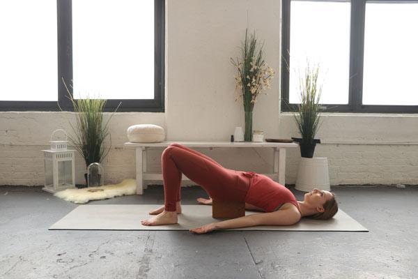Supported Bridge - self-love yoga