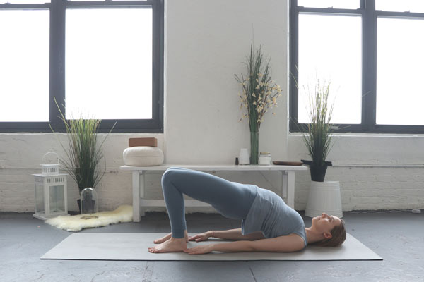 Bridge Pose is perfect for the Heart Chakra