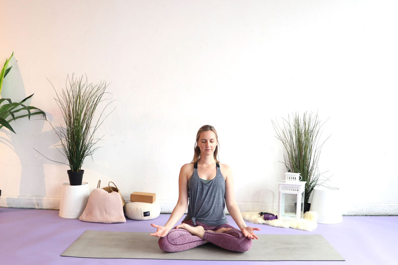 Try Lotus Pose for your Travel Yoga Sequence