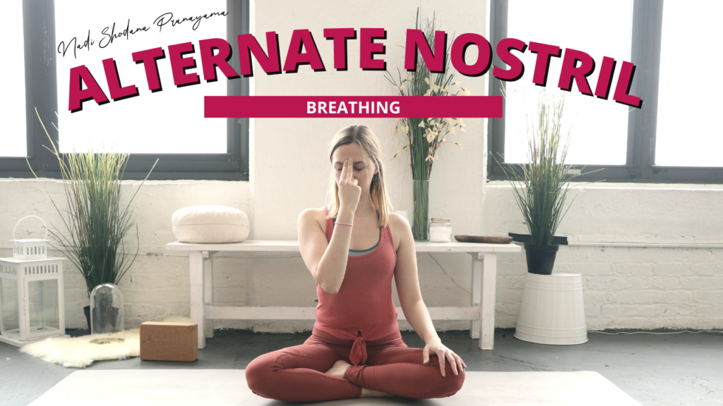 Alternate Nostril Breathing - a great breathing exercise for the evening and fall